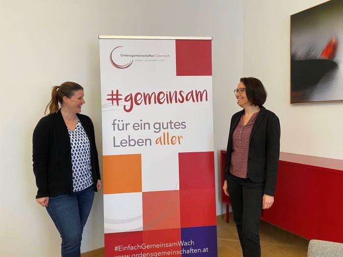 Die beiden Hosts der ARGE Jahrestagung: Irene Kubiska-Scharl und Karin Mayer (Leitung) vom Bereich Kultur und Dokumentation der Ordensgemeinschaften. (c) Mayr
